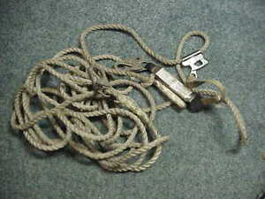 Fall Safe 50ft Rope With Lanyard And Safety Grab Tree Climbers