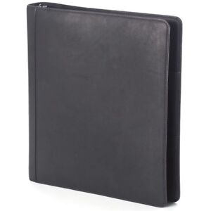 Clava Open 3 Ring Leather Binder Color Options Available Corporate Gift