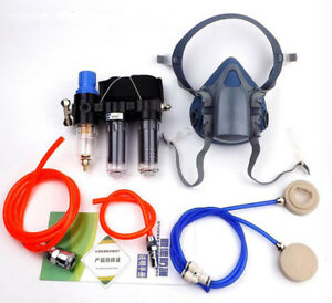 3 In1 Painting Spray Air Fed System 7502 Half Face Paint Respirator Mask