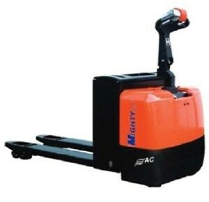 Powered Heavy Duty Ac Electric Pallet Jack Ept60 28 1 2 W X 45 L Forks 6000