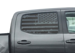 Toyota Tacoma Usa Flag Decals For Rear Window 2016 2018 Double Cab Trd Pro Tp3
