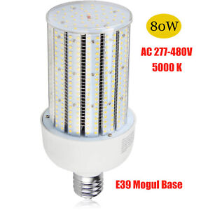 480volt Led Corn Cob 80w Replace 320w Hps Mh Outdoor Parking Lot Light E39 5000k