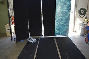 Pop up Display Trade Show Booth 6 Panels W Hard Case And 2 Pop up Frames Black