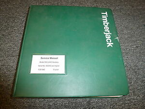 Timberjack 560 660 Grapple Skidder Logging Service Repair Shop Manual F281942