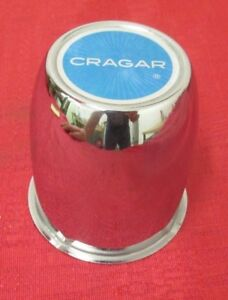 Cragar Wheel Center Cap Blue Top 3 1 2 Od Base 3 5 8 Tall Metal Cap Used