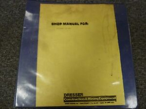 Galion Dresser 125 Hydraulic Mobile Crane Service Repair Manual S n 01150 08774
