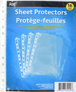 16 Clear Sheet Page Protectors Plastic Office Document Sleeves Top Loading
