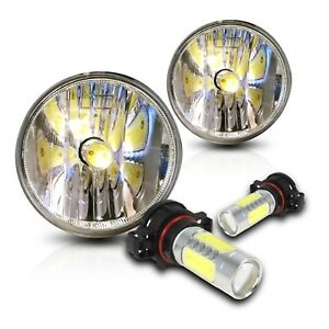 For 07 13 Chevrolet Tahoe Fog Lights Pair Set W cob Led Bulbs Clear
