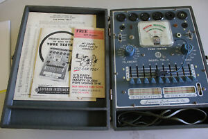 Vintage Superior Instruments Tw 11 Tube Tester Tested 6ak5 Works Very Nice