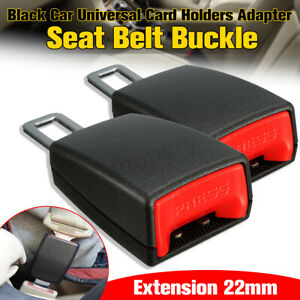 2x Universal Car Safety Seat Belt Buckle Extension Extender Clips Alarm Stopper