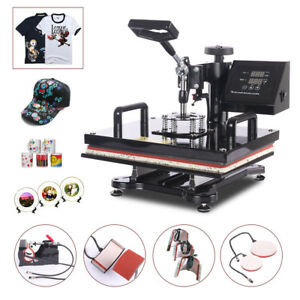 8 In 1 Heat Press Machine 12 x15 Digital Sublimation T shirt Mug Plate Hat
