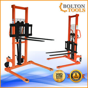 Bolton Tools Foot Operated Pallet Stacker With Fixed Leg Hs 01 1000