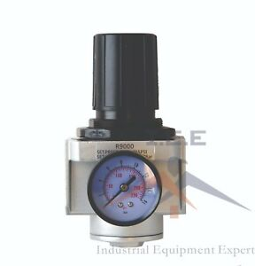 New 3 4 Inline Air Compressor In Line Regulator Pressure Gauge