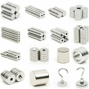 Lots Super Strong Round Disc Hole Fridge Neodymium Magnets N52 N35 Industrial
