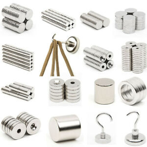 Strong Round Disc Hole Neodymium Magnets N52 N35 Industrial Electrical Machine