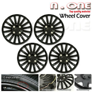 15 Inch R15 Matte Black Wheels Cover Rims Skin Hub Caps 4pcs Fit Elantra Sonata