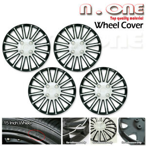 15 Inch R15 Chrome Black Custom Wheels Cover Rims Skin Hub Caps 4pcs Fit Xa