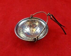 Vintage French Style Sterling Silver Tea Strainer Simple Design 3901