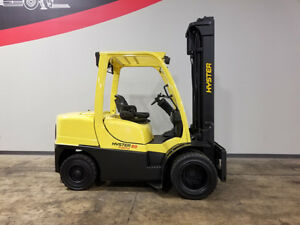 2006 Hyster H80ft 8000lb Dual Drive Pneumatic Forklift Diesel Lift Truck Hi Lo
