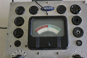 Vintage Philco 7050 Tube Tester Tested 6ak5 Good Nice And Clean Tube Chart