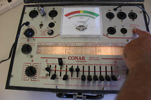 Vintage Conar 223 Tube Tester Tested 6ak5 Good Clean Working Assembly Charts