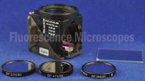 Zeiss Fluorescence Microscope Filter Set 62 He Bfp Gfp Hcred W cube 3 Excitors