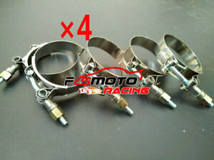 4x 2 5 Stainless Steel T Bolt Clamps Turbo Intake Silicone Hose Coulper 66 74mm