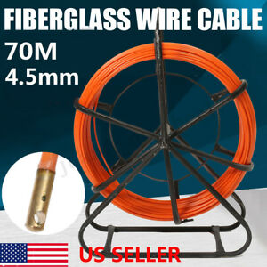 4 5mm Fish Tape Fiberglass Wire Cable Run Rod Duct Rodder Fishtape Puller Orang