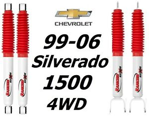 Rancho Rs5000x Series Front Rear Shocks For 99 06 Chevrolet Silverado 1500 4wd