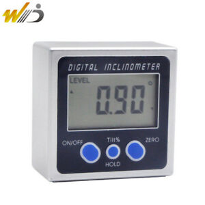 Digital Protractor Inclinometer Bevel Box Electronic Angle Meter Angle Finder