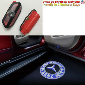 2pc Led Laser Courtesy Lamp Illuminated Entry Door For Mercedes S Class W222