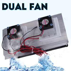 12v Thermoelectric Peltier Refrigeration Cooling System Kit Cooler Double Fan Kd