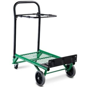 Convertible Folding Heavy Duty Hand Platform Truck Adjusted Handle 4 Wheels Us