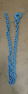 New old Stock 1 2 X 6 Heavy Chain With Grade 80 Locking Hook