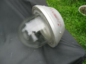Vintage Crouse hinds Explosion Proof Light Globe Collar Good Condition Projects