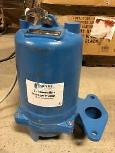 Ws0511bf Goulds 1 2 Hp 115 Volts Submersible Sewage Pump Single Phase