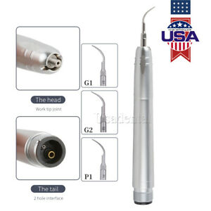 1x Dental Nsk Air Perio Scaler Handpiece Hygienist 2 holes With 3 Tips G1 G2 P1