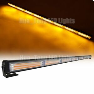 45 144w Cob Led Warning Emergency Beacon Traffic Advisor Strobe Light Bar Amber