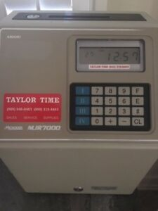 Amano Time Clock Mjr 7000 New Condition
