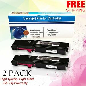 2 pk Magenta Toner For Xerox Phaser 6600 6600dn Workcentre 6605 6605dn 106r02226