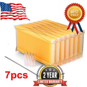 Upgrade Auto Flow Honey Hive Beehive Beekeeping Frames Honey Bee Harvesting 7pcs