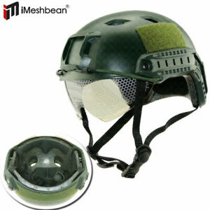 MICH 2000 Airsoft Tactical Hunting Combat Helmet w Side Rail Mount Army Sand