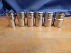 Vintage Snap On 1 2 Drive 6pc Socket Set 6 Point Usa Made