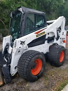 2017 Bobcat All Wheel Skid Steer Loader 60 000 0 b o With Forks