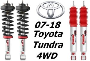 Rancho Front Quicklift Struts Rs9000xl Rear Shocks For 07 18 Toyata Tundra 4wd