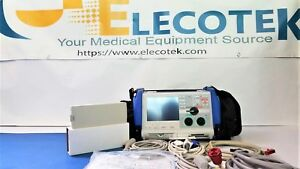 Zoll M Series Als Pacer Analyze aed 3 Leads Spo2 Etco2 capnostat Bluecase Pa