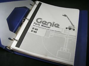 Genie S 40 S 45 Telescopic Boom Lift Shop Parts Manual Book S40 S45