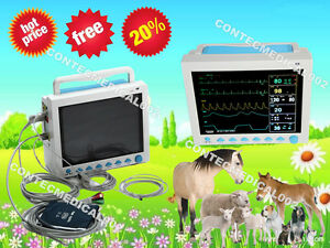 Contec Cms8000 vet Patient Monitor Veterinary Vital Signs Monitor 6 Parameters