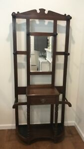 Beautiful Antique Hall Tree Umbrella Stand