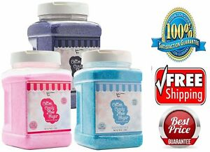 Candery Cotton Candy Floss Sugar strawberry Raspberry Blue And Grap 3 pack